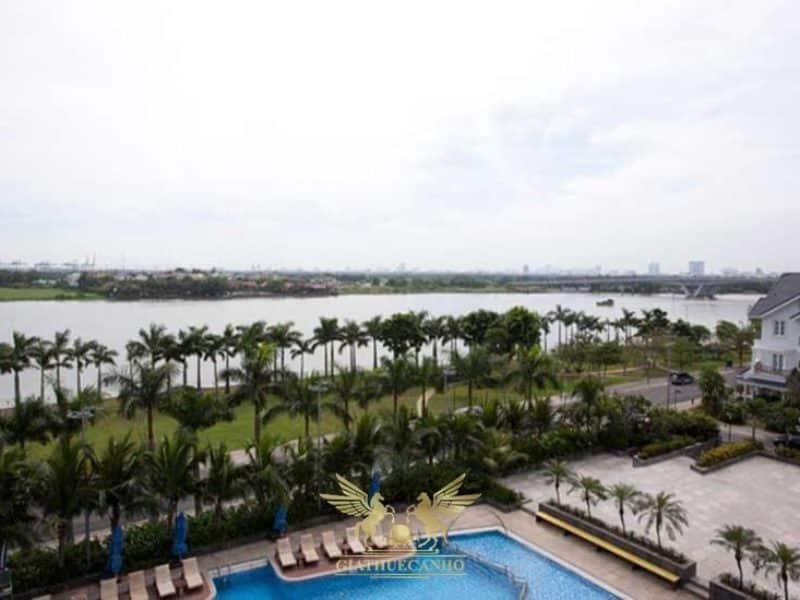 View hồ bơi và view sông tại căn hộ Saigon Pearl