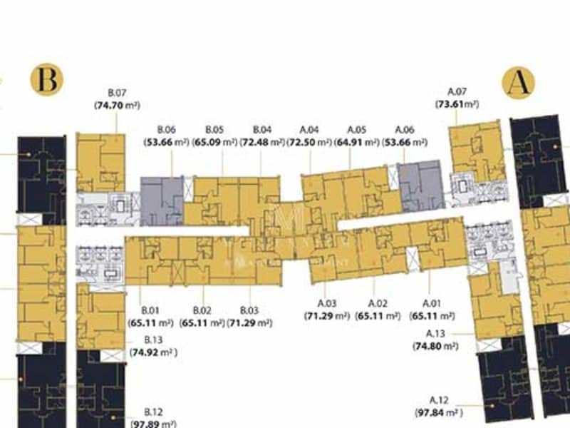 Mặt bằng căn hộ Millennium