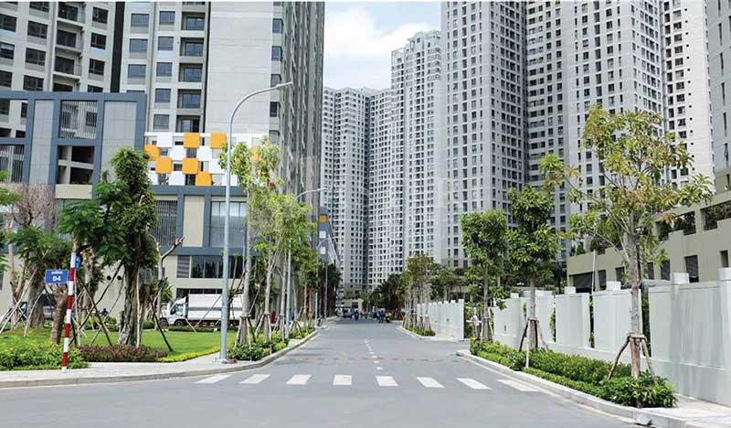 đường nội khu Masteri