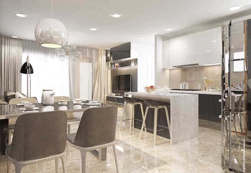 Phòng bếp Vinhomes Golden River