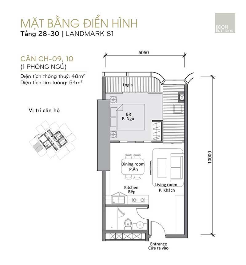 Landmark 81 1 phòng ngủ