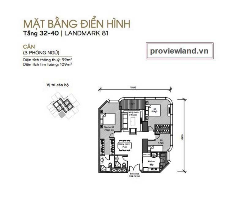 Landmark 81 3 phòng ngủ