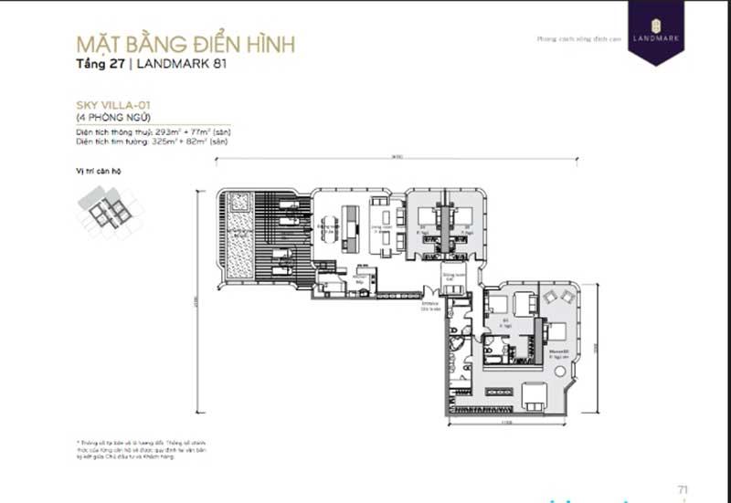 Landmark 81 4 phòng ngủ