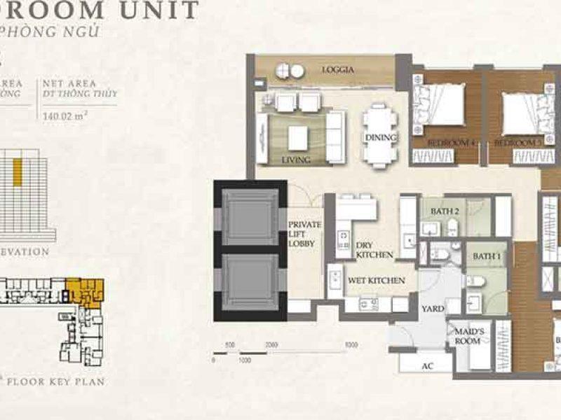 Mặt bằng căn hộ The Nassim