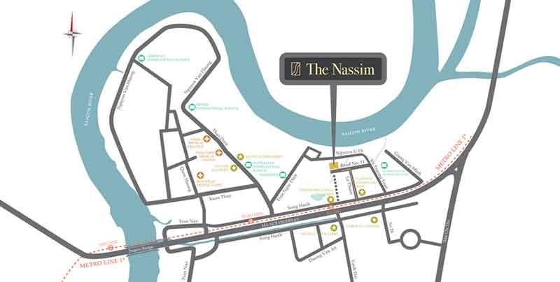 Vị trí căn hộ Nassim