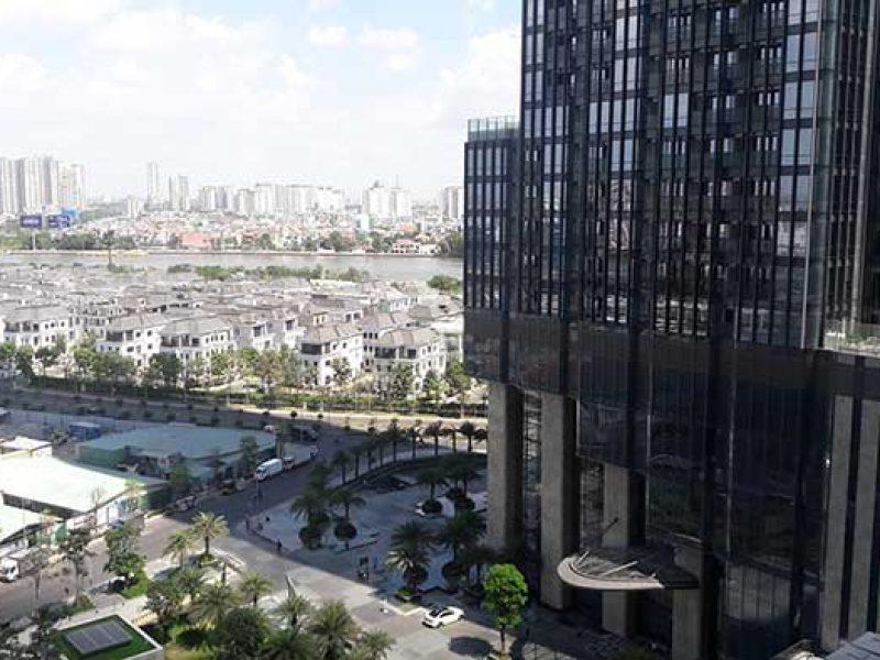 View căn hộ Vinhomes Central Park nhìn về tòa Landmark 81