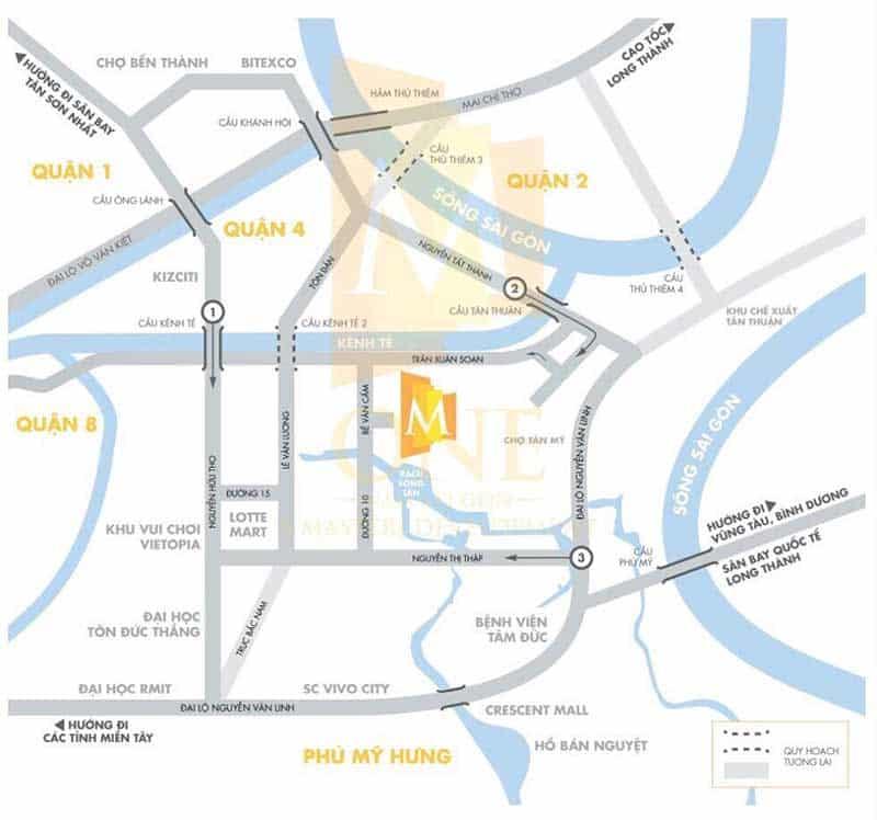 Vị trí căn hộ M One
