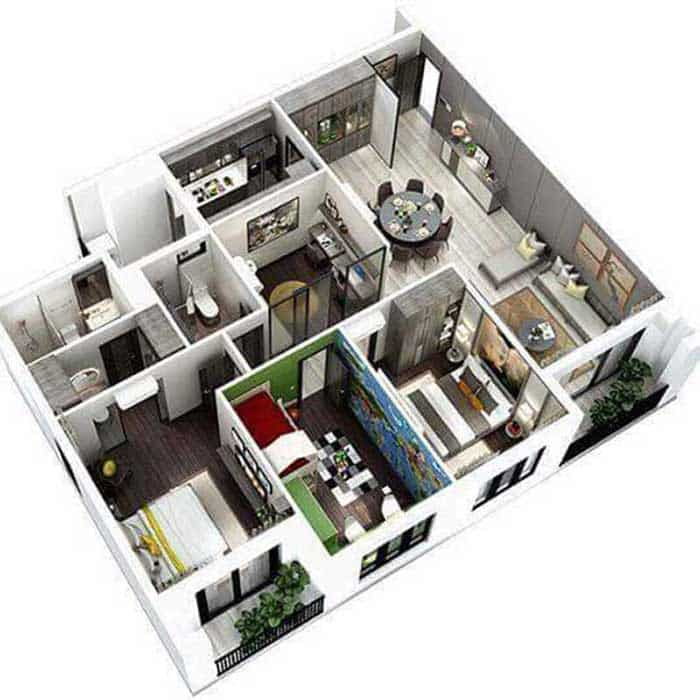 Layout căn hộ Vincity quận 9