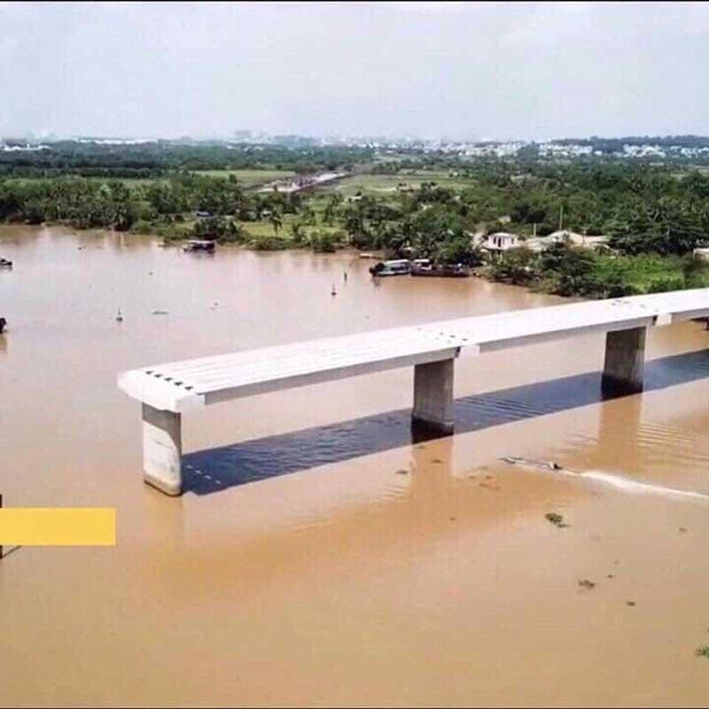 Cầu Long Đại bắc qua sông Đồng Nai kết nối dự án Vincity với các tỉnh lân cận