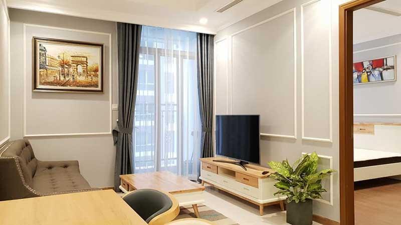 Nội thất đầy đủ tiện nghi bên trong căn hộ Vinhomes