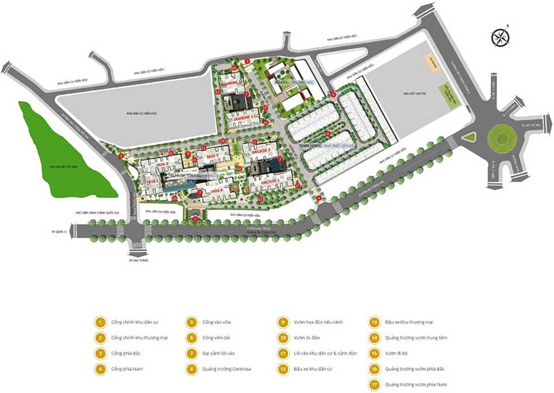 Mặt bằng tổng thể căn hộ Hà Đô quận 10