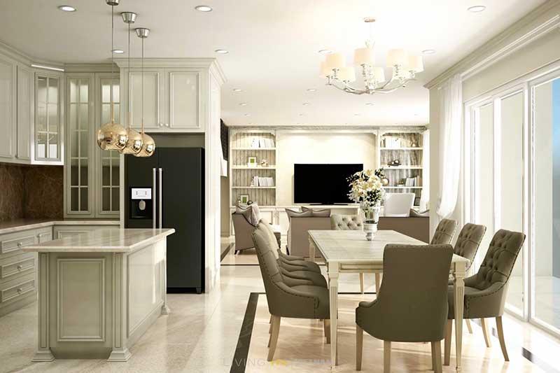 Phòng khách Penthouse Masteri Thảo Điền