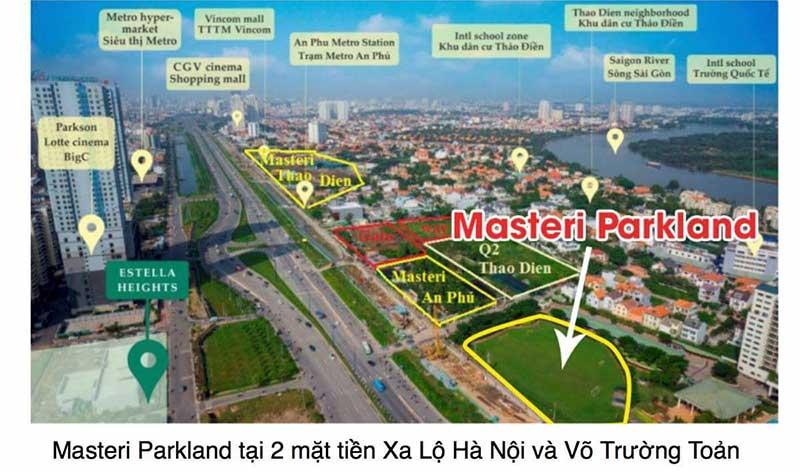 Vị trí dự án Masteri Parkland