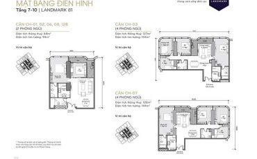 Cho thuê căn hộ Landmark 81 2 phòng ngủ giá từ 1500$