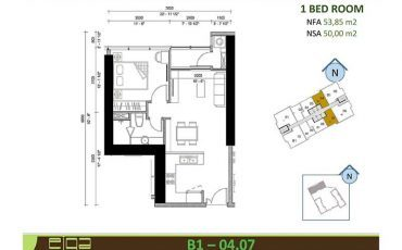Cho thuê căn hộ Sunwah Pearl 1 phòng ngủ giá từ $650