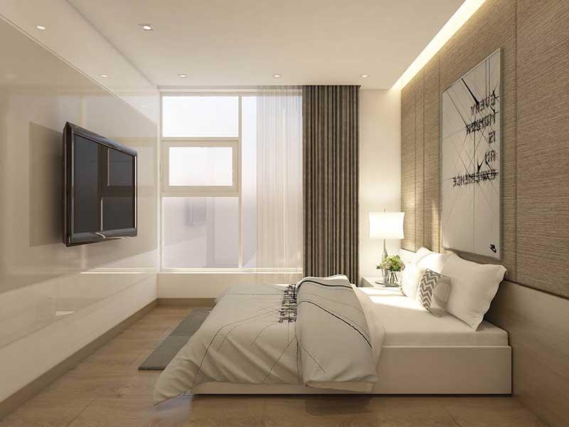 Phòng ngủ căn Sunwah pearl 2 phòng ngủ
