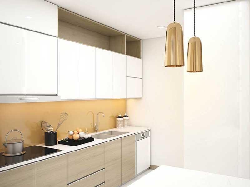 Phòng bếp căn Sunwah pearl 2 phòng ngủ