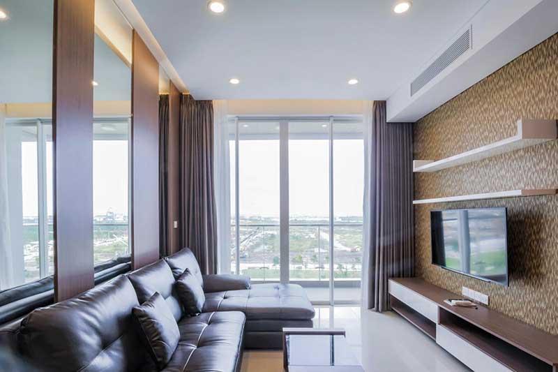Phòng khách căn hộ 2 phòng ngủ Sarimi