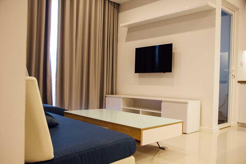 Phòng khách căn hộ Sarina 3 phòng