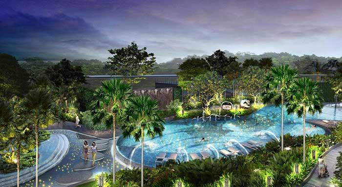 Công viên nội khu căn hộ Palm Garden