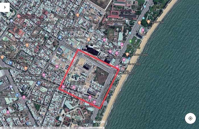Vị trí xây dựng Condotel Melody Quy Nhơn