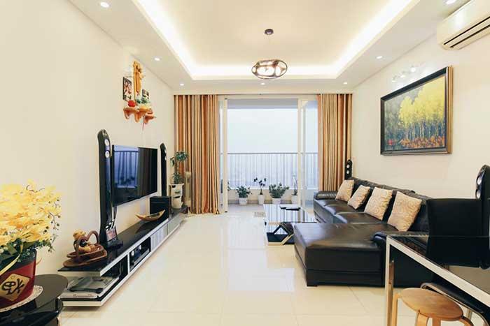 Phòng khách căn hộ Thảo Điền Pearl