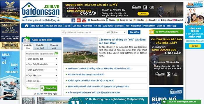 Các website đăng tin cho thuê căn hộ với hỗ trợ tìm kiếm nhanh chóng