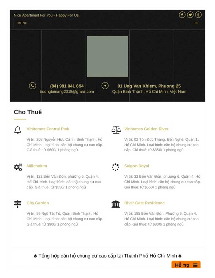 Giá Thuê Căn Hộ là trang web hàng đầu trong lĩnh vực cho thuê căn hộ cao cấp tại TPHCM