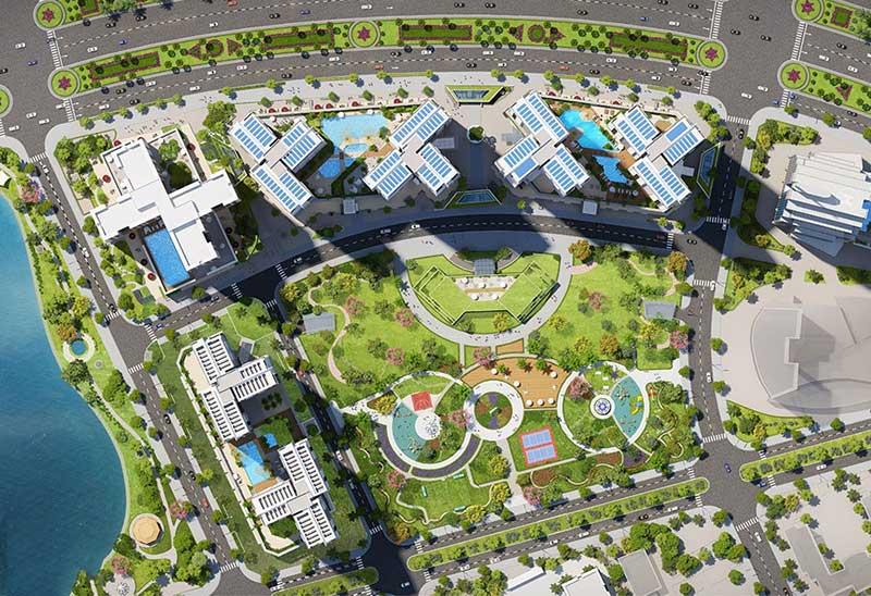 Mặt bằng tổng thể căn hộ Eco Green Saigon