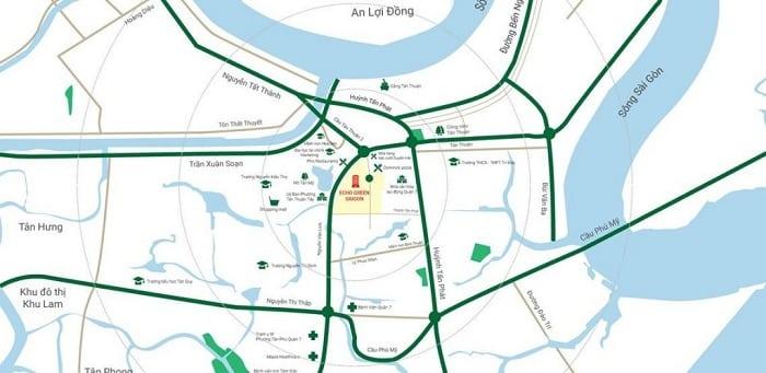 Dự án Eco Green Sai Gòn nằm cạnh công viên Hương Tràm