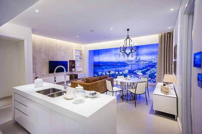 Bếp mở bên trong căn hộ Gateway