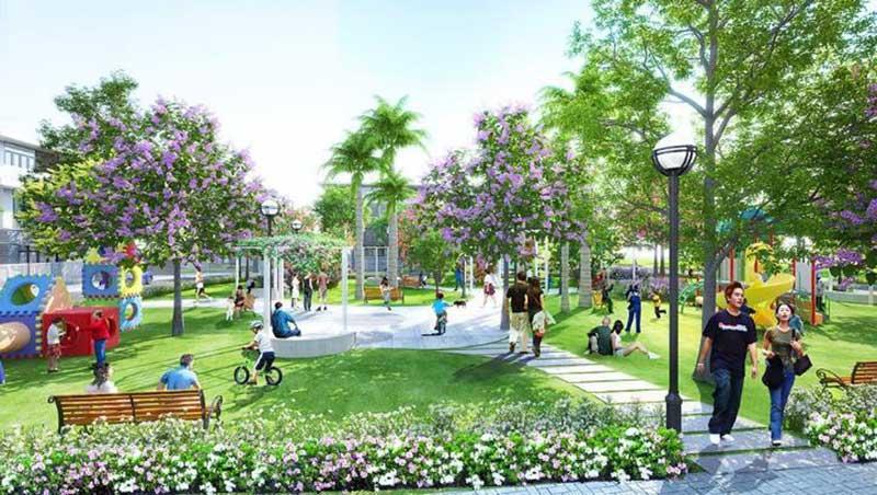 Khu công viên ven sông thuộc dự án Nova Aqua City Đồng Nai