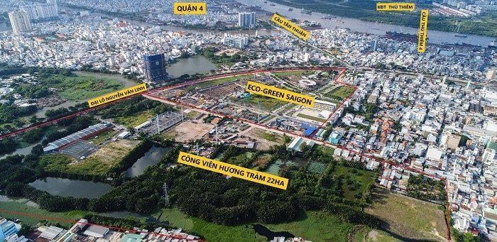 Xung quanh công viên Hương Tràm là nhiều dự án lớn