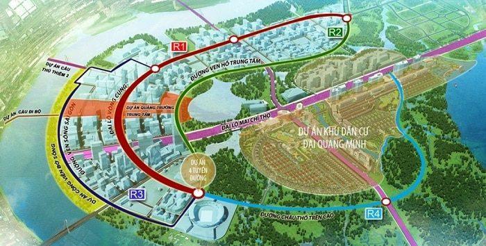 4 tuyến đường chính khu đô thị thủ thiêm