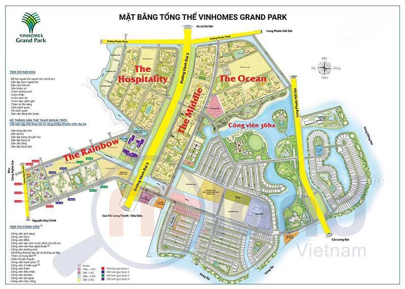 Mặt bằng tổng thể Vinhomes Grand Park