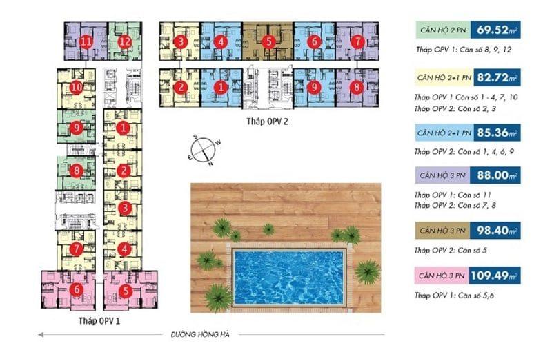 bảng giá cho thuê căn hộ orchard Park View