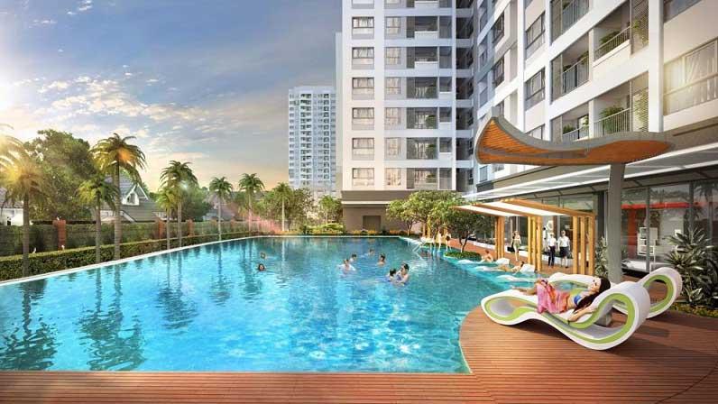 Bể bơi tại dự án Botanica