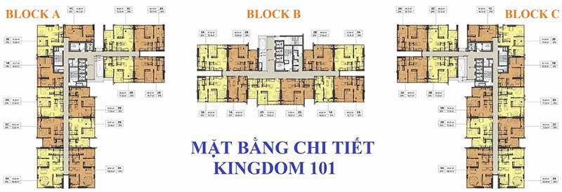 Mặt bằng tổng thể căn hộ Kingdom 101