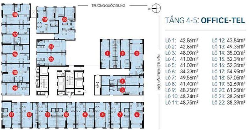 bảng giá cho thuê căn hộ Newton Residence
