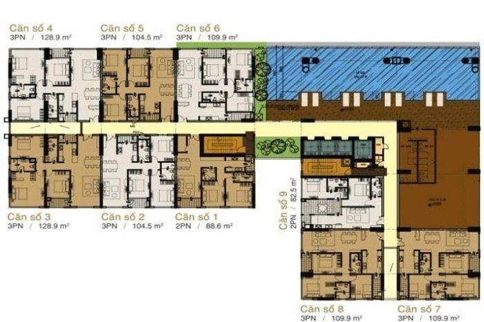 bảng giá cho thuê căn hộ Prince Residence