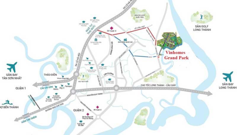 Vị trí dự án căn hộ Vinhomes Grand Park