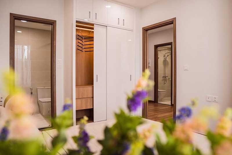 Phòng ngủ ấm cúng tại Eco Green