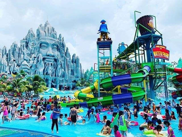 Khu vực công viên nước là điểm vui chơi được yêu thích
