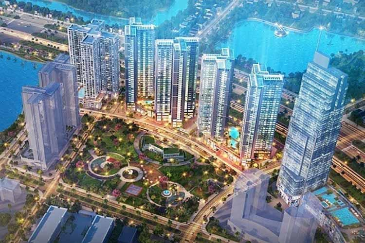 Dự án Eco Green Sài Gòn nằm liền kề siêu thị Crescent Mall