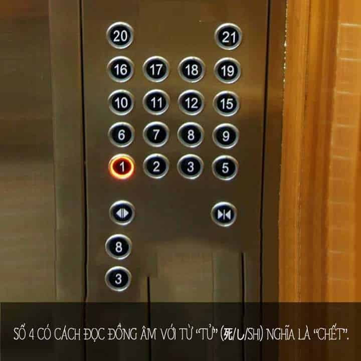 tại sao thang máy không có số 4 và số 13