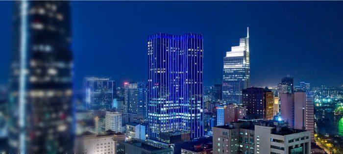 Nguyễn Huệ là nơi tập trung nhiều tòa nhà văn phòng lớn