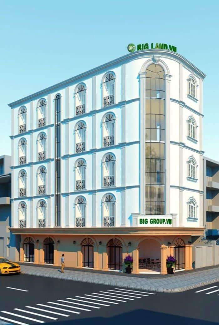 Tòa nhà bao gồm 1 tầng trệt và 4 tầng văn phòng cho thuê