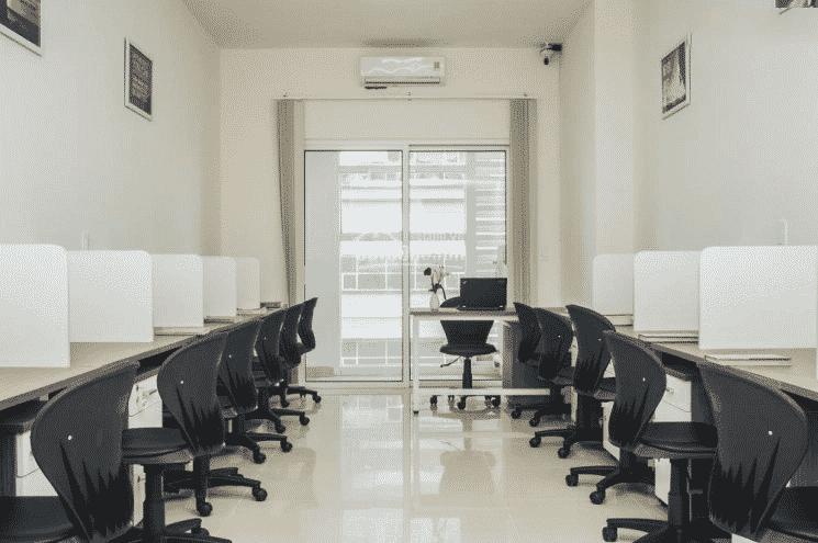 Không gian bên trong văn phòng cho thuê