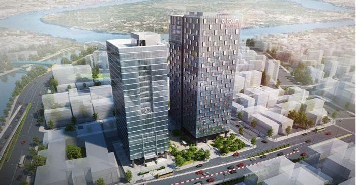 Tòa nhà nằm trên đường Đoàn Văn Bơ - Khu trung tâm quận 4