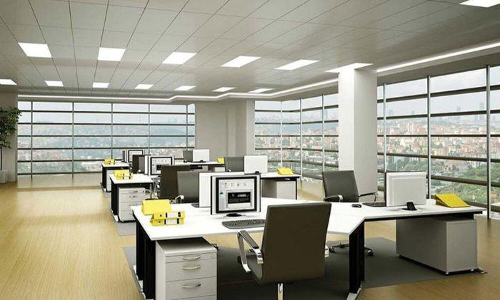 Văn phòng cần đầy đủ ánh sáng nhưng cũng cần hạn chế gió lạnh